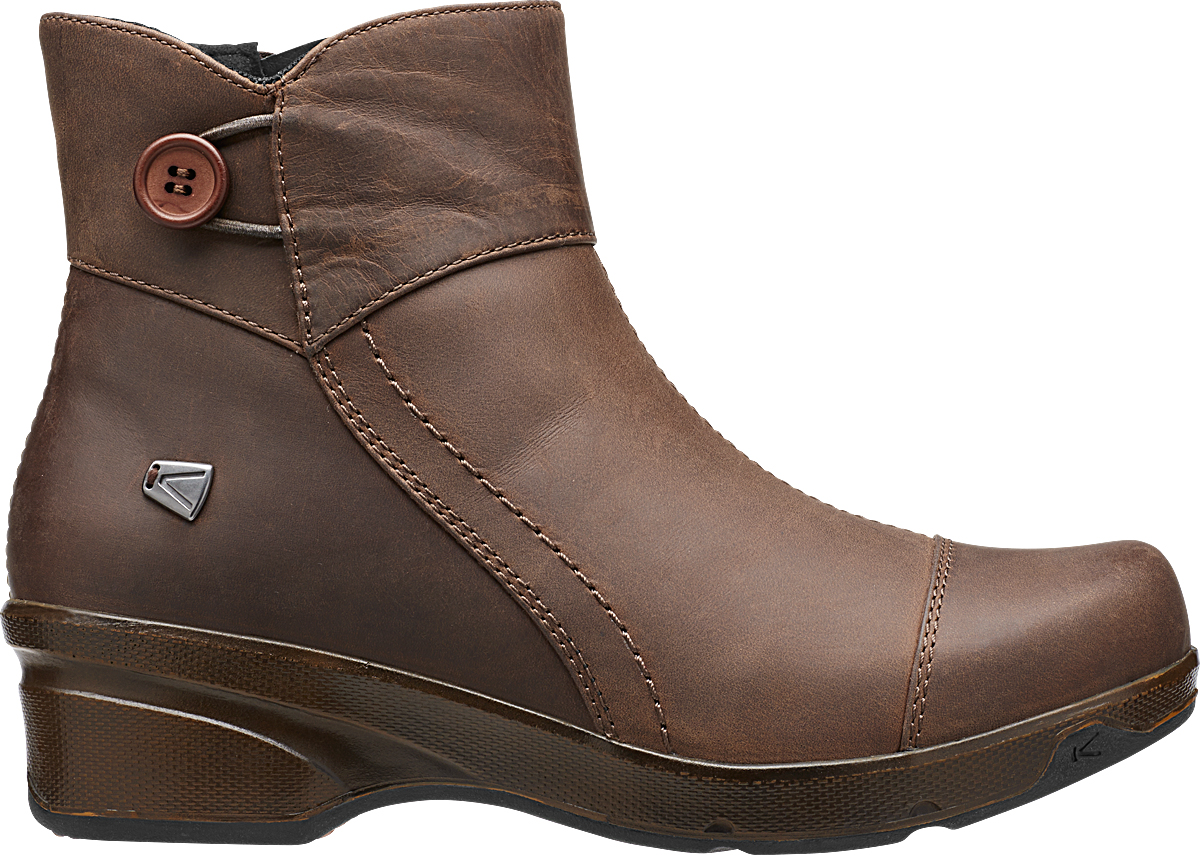 Keen Mora Mid Button Cascade Brown-30