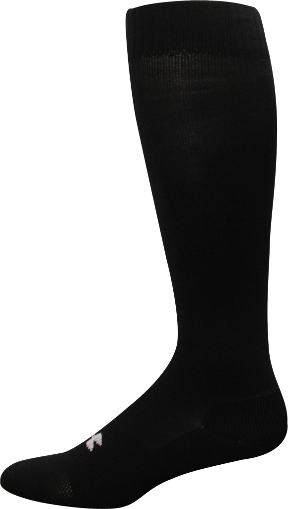 Under Armour HeatGear Boot Sock Black/White-30