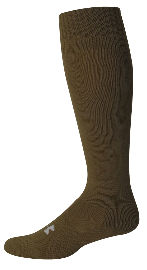 Under Armour HeatGear Boot Sock Coyote Brown/White-30