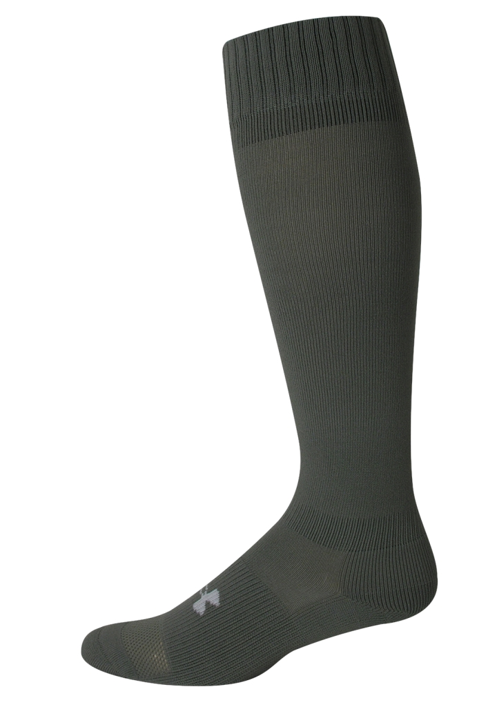 Under Armour HeatGear Boot Sock Foliage Green/White-30