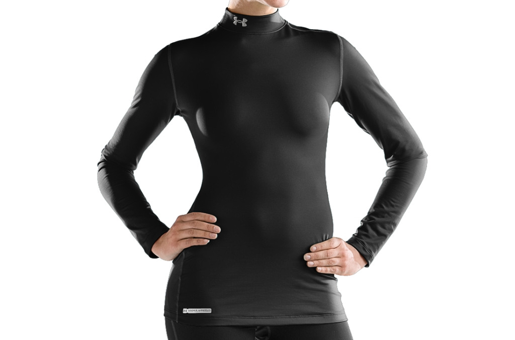 Under Armour ColdGear Fitted Long Sleeve Mock Black/Metal-30