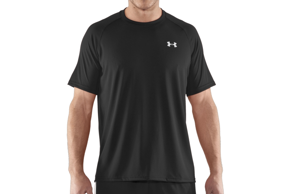 Under Armour UA Tech Short Sleeve T-Shirt Black/White-30