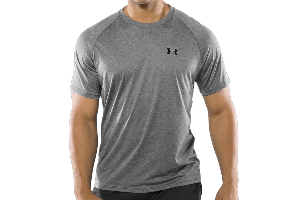 Under Armour UA Tech Short Sleeve T-Shirt True Gray Heather/Black-30