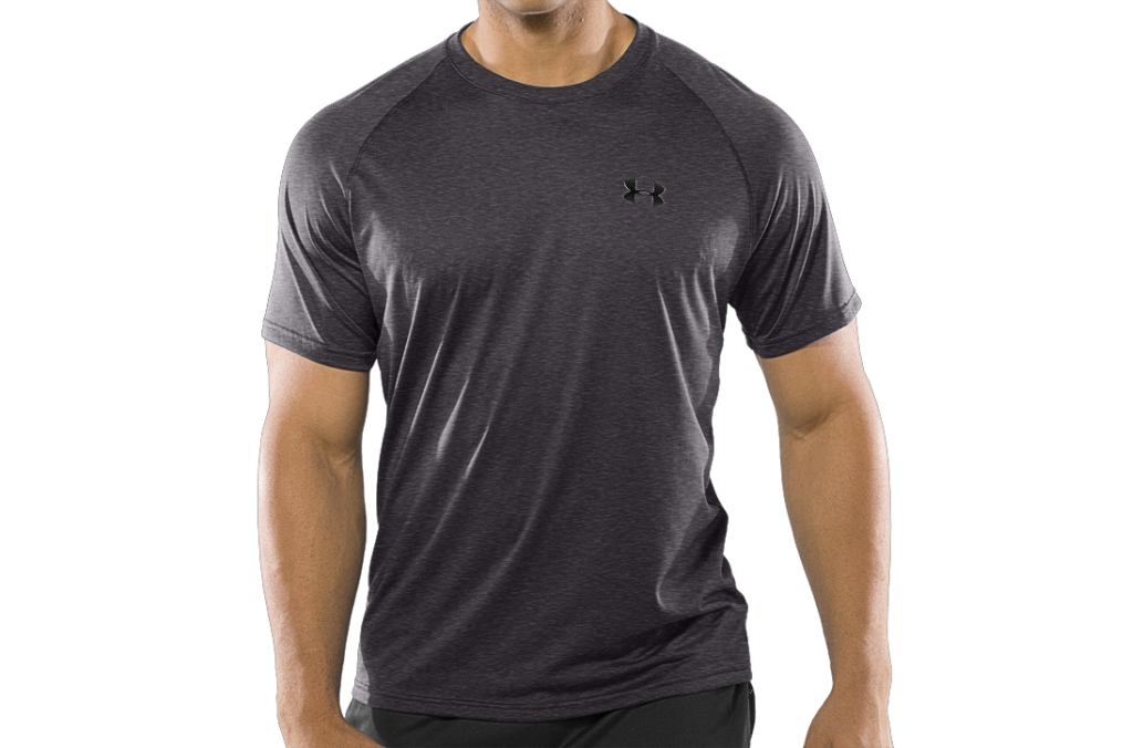 Under Armour UA Tech Short Sleeve T-Shirt Bolt Orange Heather/Black-30