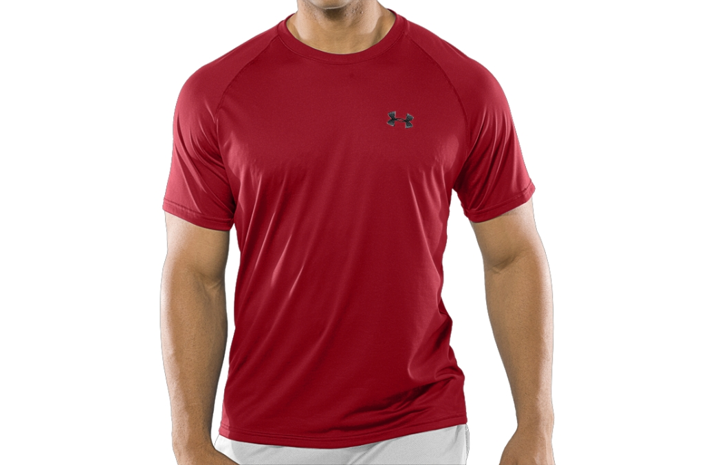 Under Armour UA Tech Short Sleeve T-Shirt Red/White-30