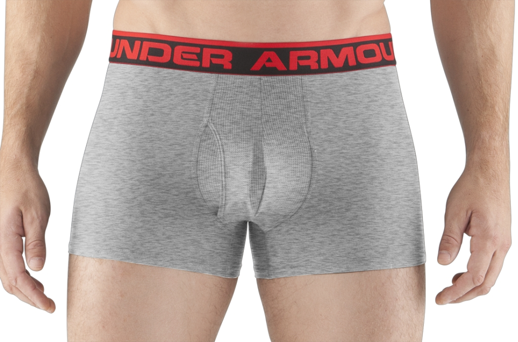 "Under Armour UA Original Series 3"" Boxerjock True Gray Heather/Red-30"