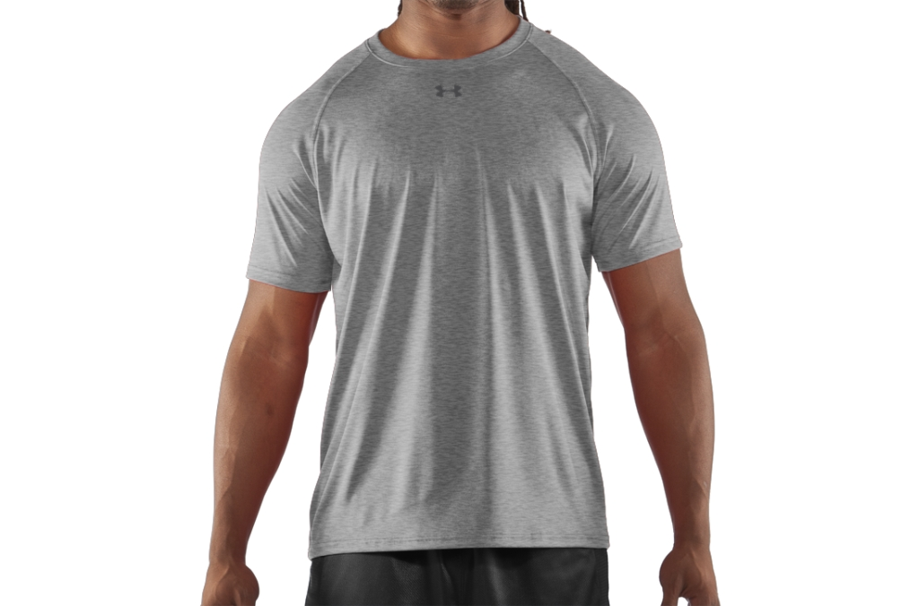 Under Armour UA Locker T-Shirt True Gray Heather/Black-30