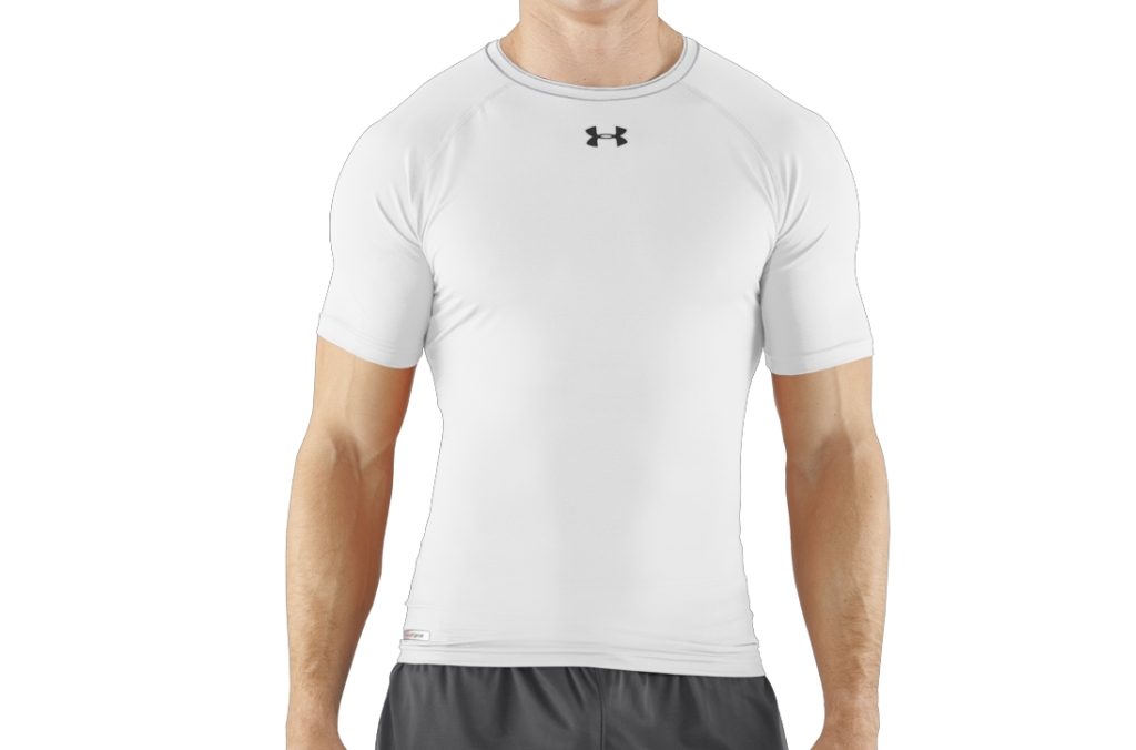 Under Armour HeatGear Sonic Compression Short Sleeve White/Black-30