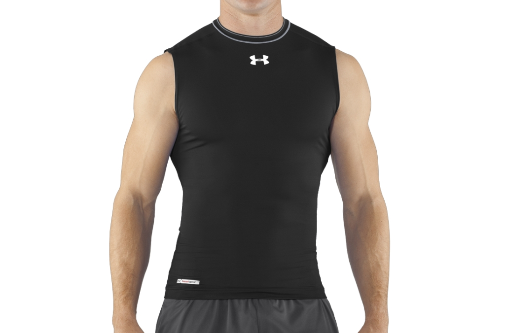 Under Armour HeatGear Sonic Compression Sleeveless Black/White-30