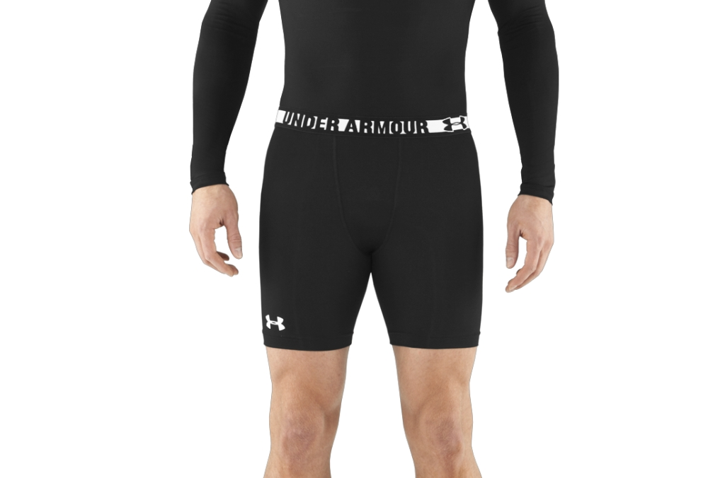 Under Armour HeatGear Sonic Compression Shorts Black/White-30