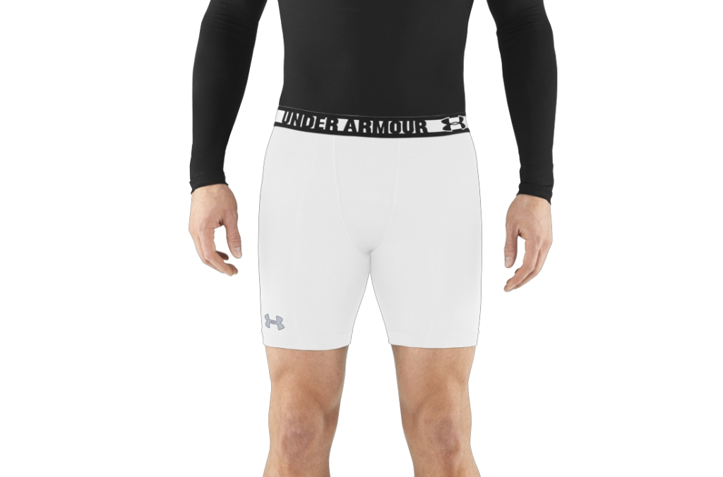 Under Armour HeatGear Sonic Compression Shorts White/Steel-30