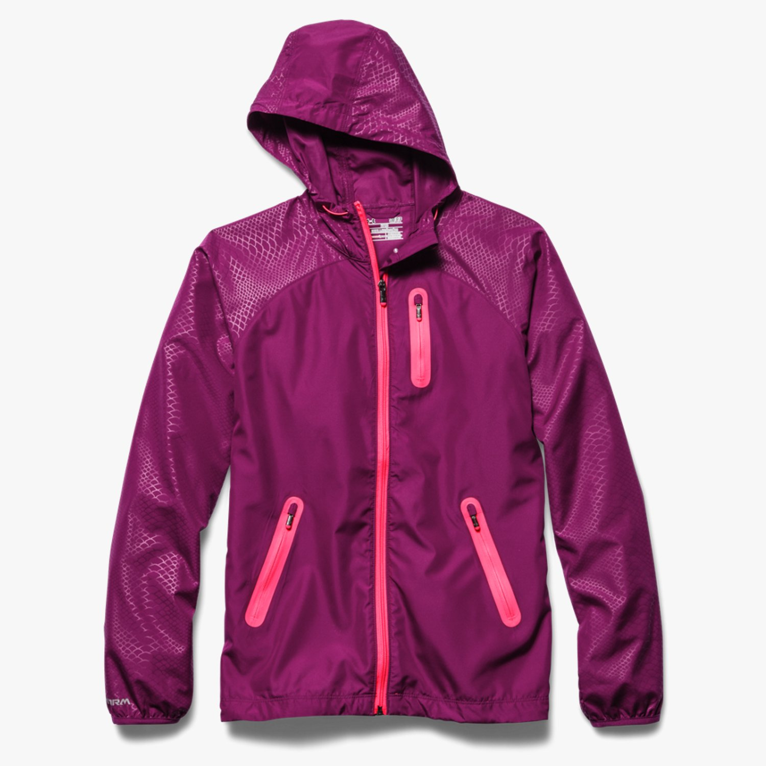 Under Armour WoUA Qualifier Woven Jacket Aubergine Purple/Pink Shock-30
