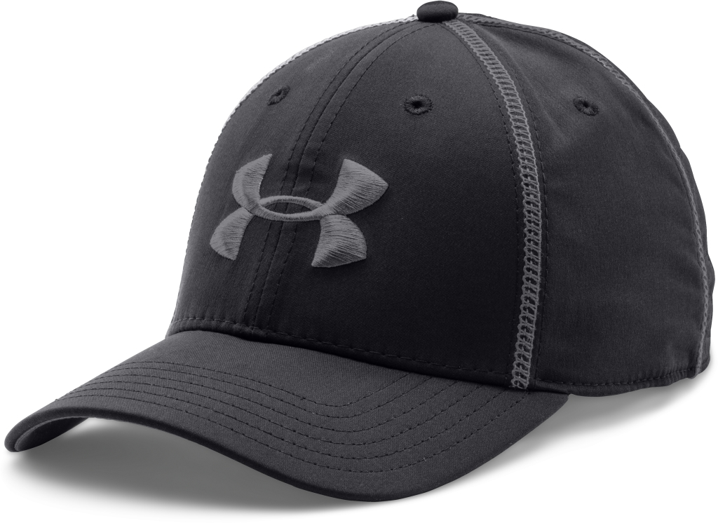 Under Armour UA Huddle Stretch Fit Cap Black/Graphite-30