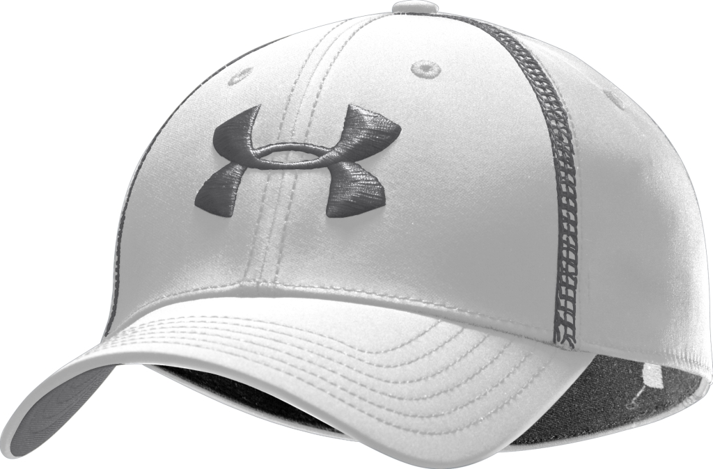 Under Armour UA Huddle Stretch Fit Cap White/Graphite/Graphite-30