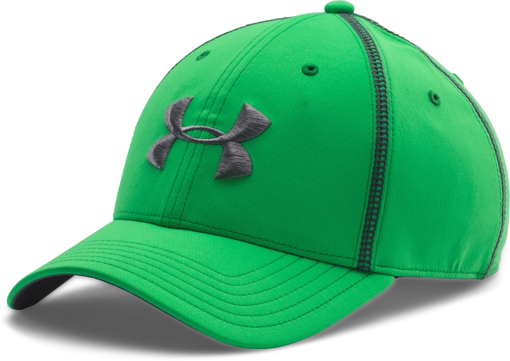 Under Armour UA Huddle Stretch Fit Cap Green Energy/Graphite-30