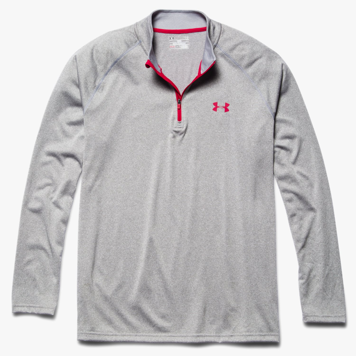 Under Armour UA Tech 1/4 Zip True Gray Heather/Red/Red-30