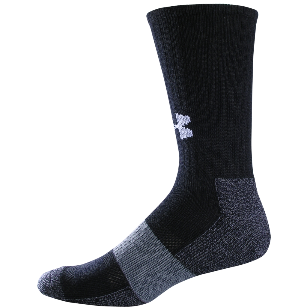 Under Armour UA Performance Crew Socks Black/White-30