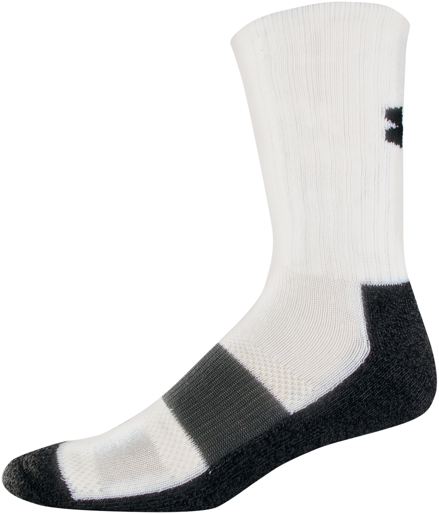 Under Armour UA Performance Crew Socks White/GRY-30