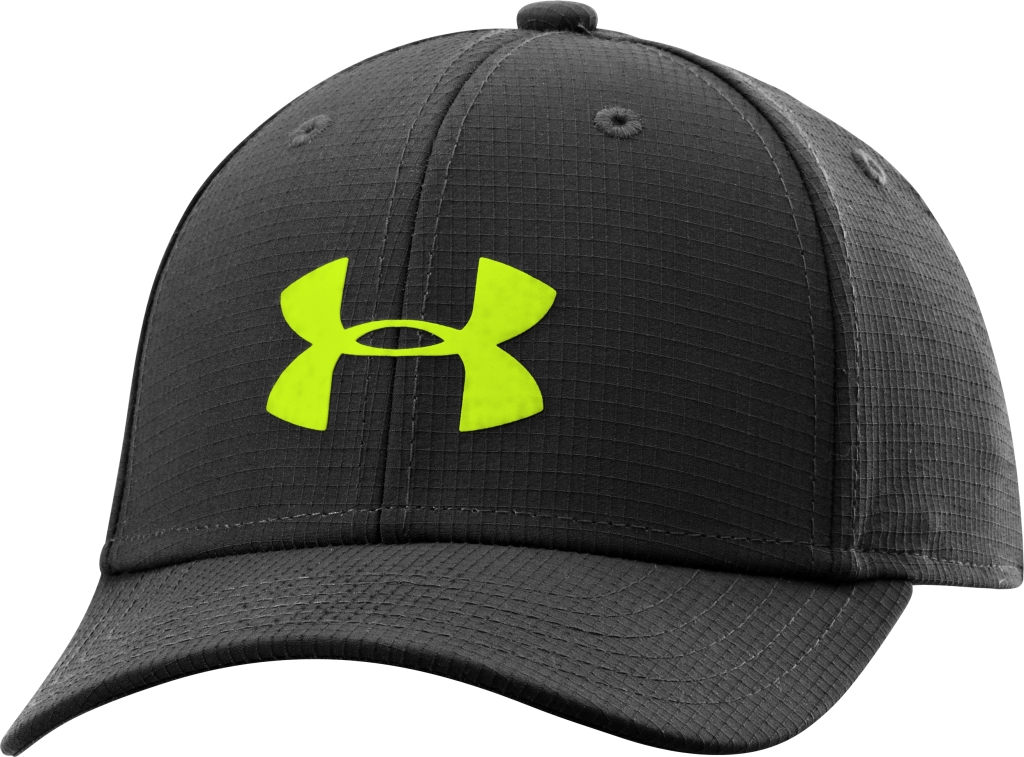 Under Armour Boys' UA Headline Stretch Fit Cap Black/High-Vis Yellow/High-Vis Yellow-30