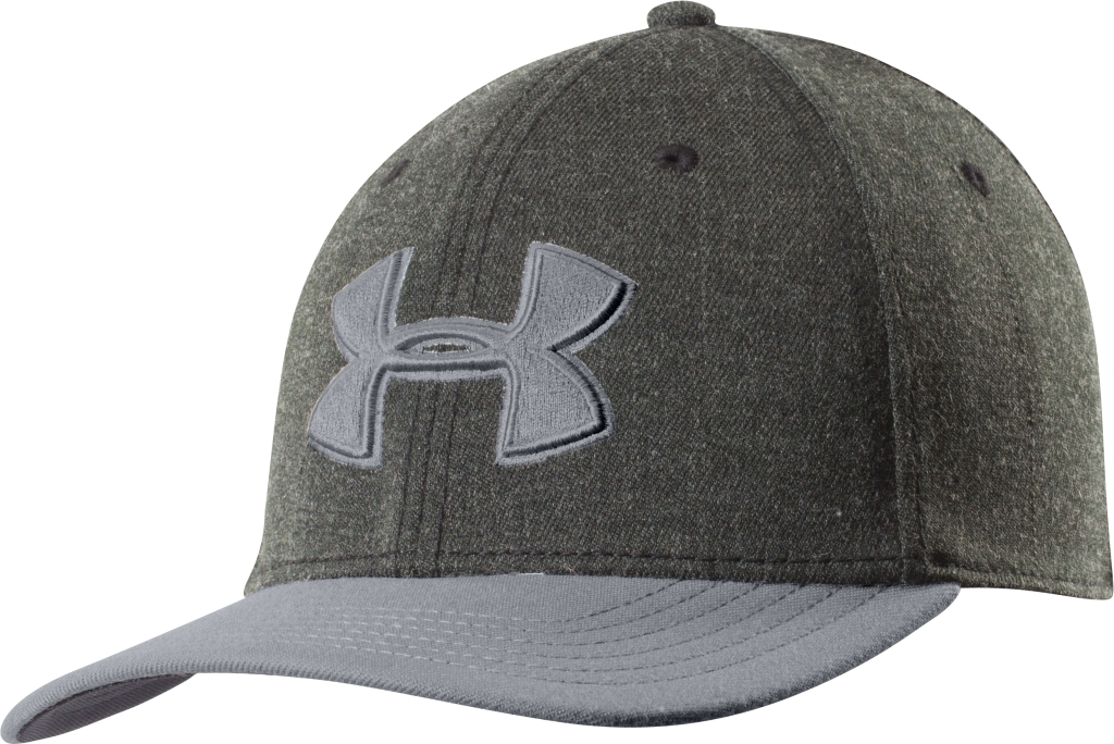 Under Armour UA Closer Low Crown Stretch Fit Cap Asphalt Heather/Steel/Steel-30