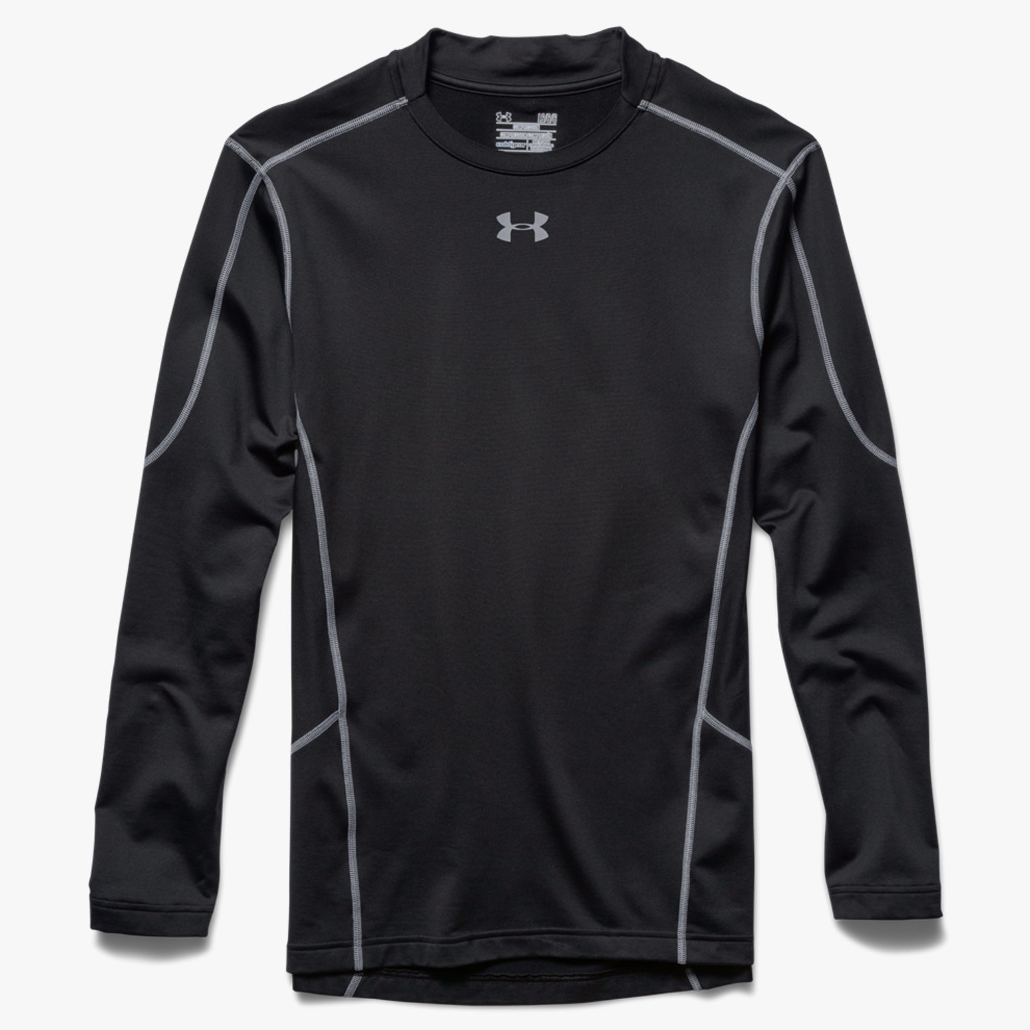 Under Armour ColdGear Evo Compression Hybrid Mock Black/Steel-30