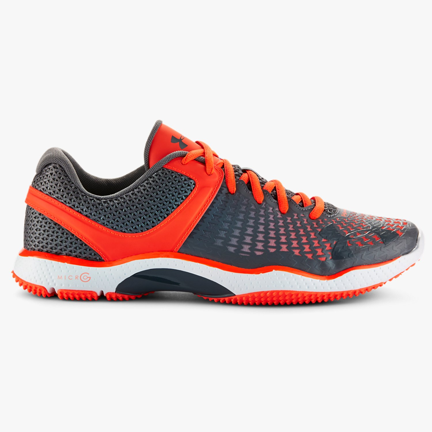 Under Armour UA Micro G Elevate Training Shoes Bolt Orange/White/Lead-30