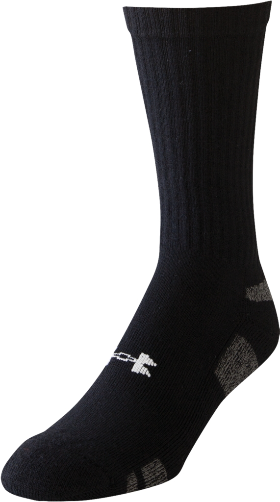 Under Armour UA HeatGear Crew Socks 3-Pack Black/White-30