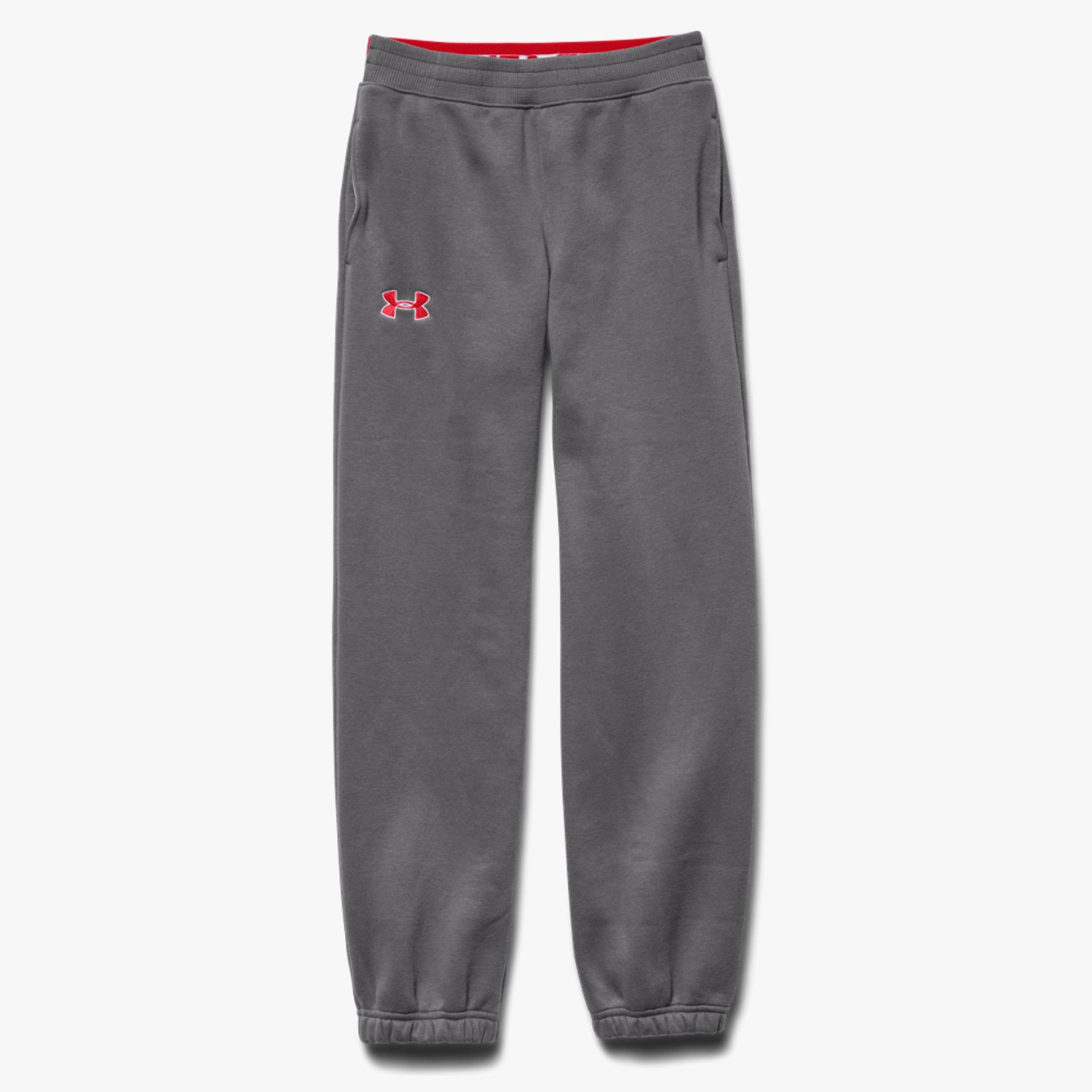 Under Armour Boys' UA Storm Charged Cotton Transit Trousers Graphite/Risk Red-30