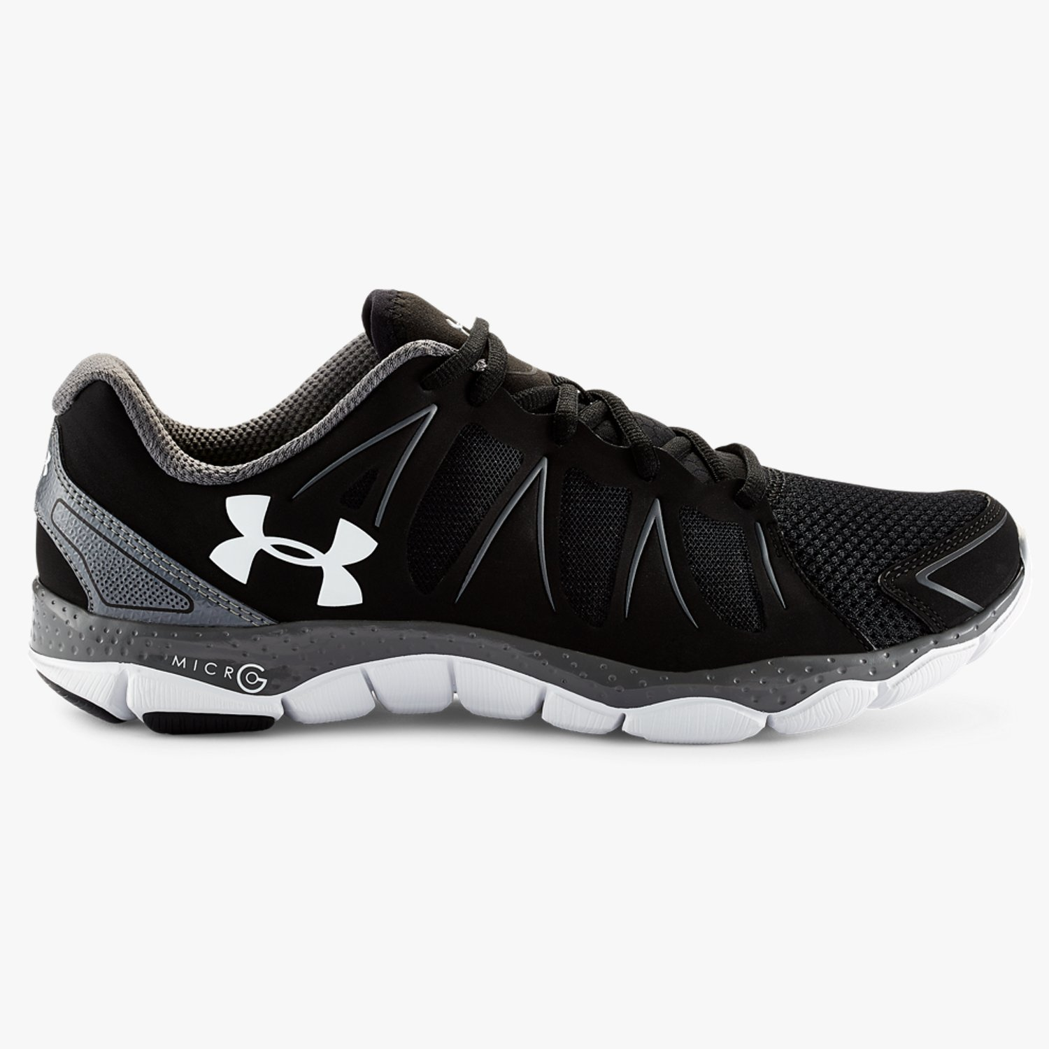 Under Armour UA Micro G Engage II Running Shoes Black/Graphite/White-30