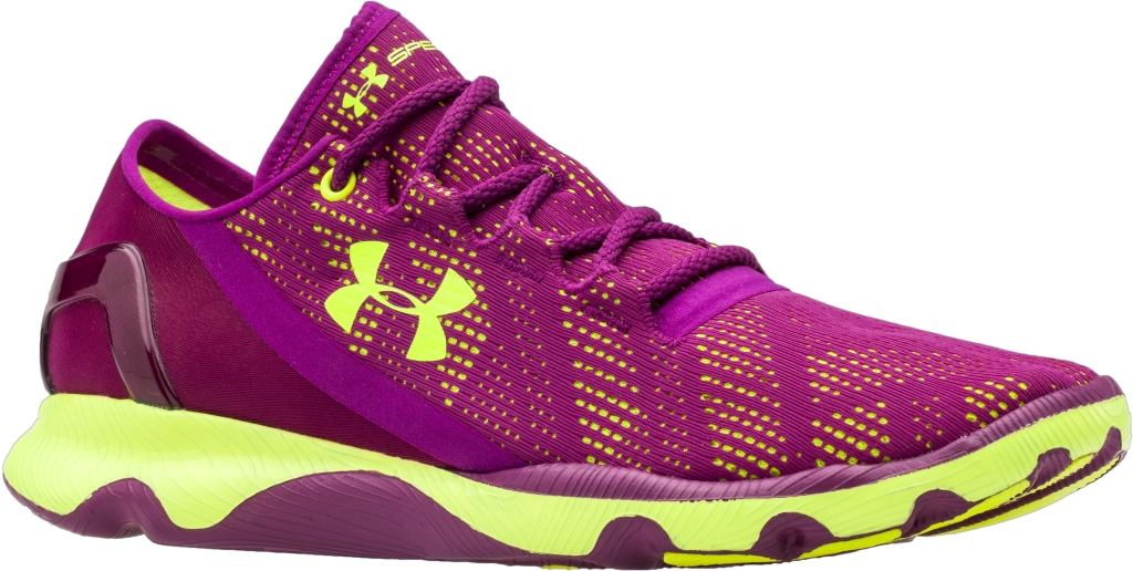 Under Armour UA SpeedForm Apollo Vent Aubergine Purple/High-Vis Yellow/High-Vis Yellow-30