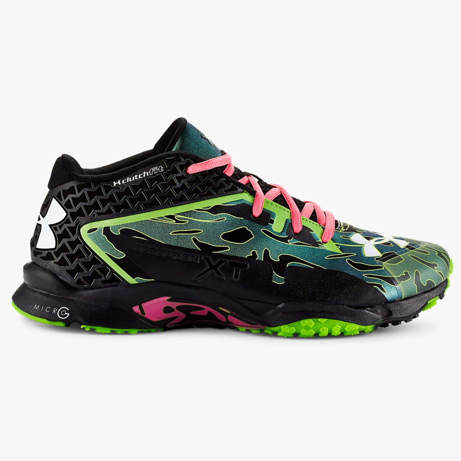 Under Armour UA Micro G Deception XT Training Shoes Black/Hyper Green/White-30