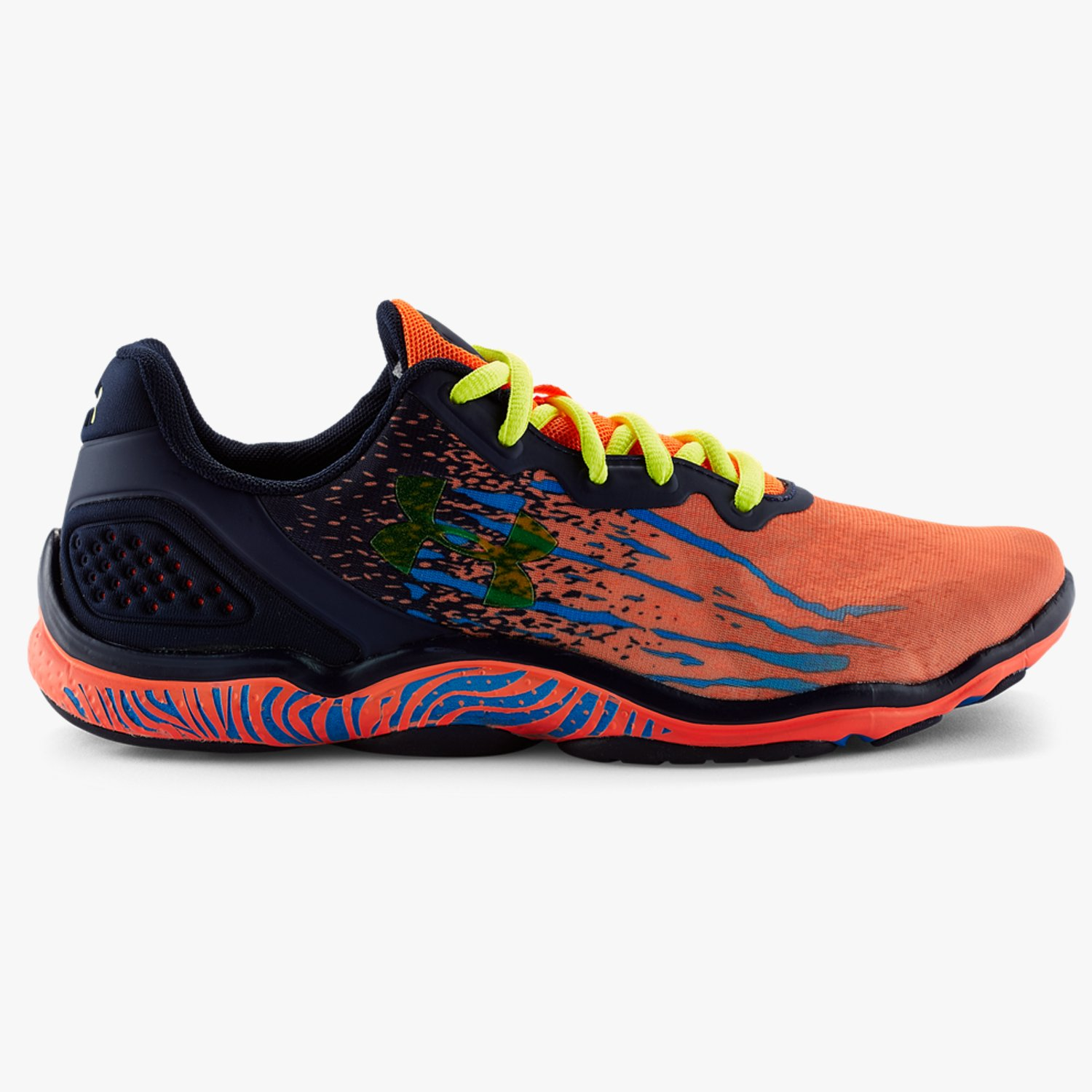 Under Armour UA Micro G Sting Training Shoes Afterburn/Faded Ink/Yellow Ray-30