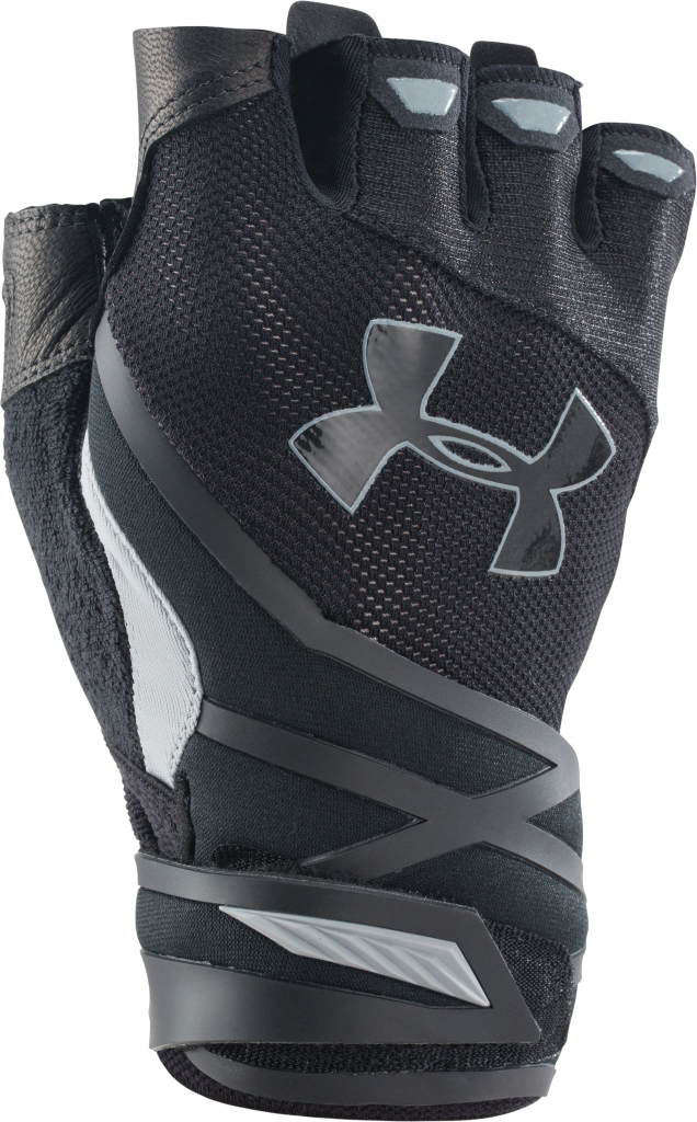 Under Armour UA Resistor Half-Finger Training Gloves Black/Steel-30