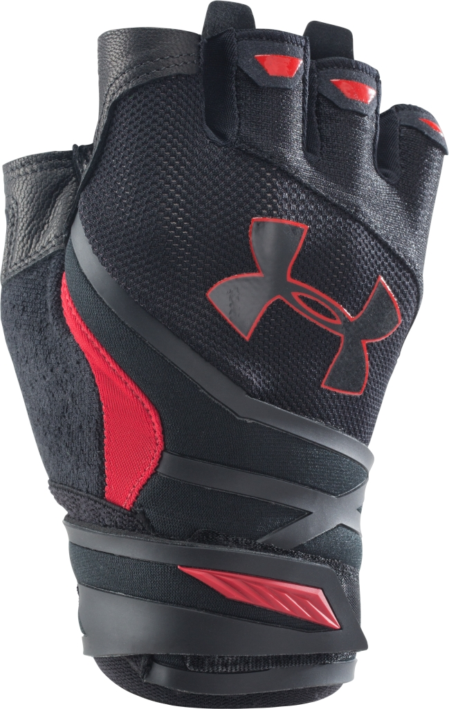 Under Armour UA Resistor Half-Finger Training Gloves Black/Red-30