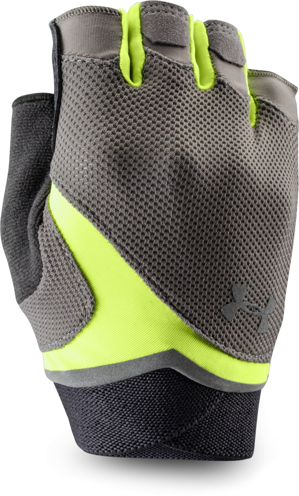 Under Armour UA Flux Gloves Steeple Gray/X-Ray Yellow-30