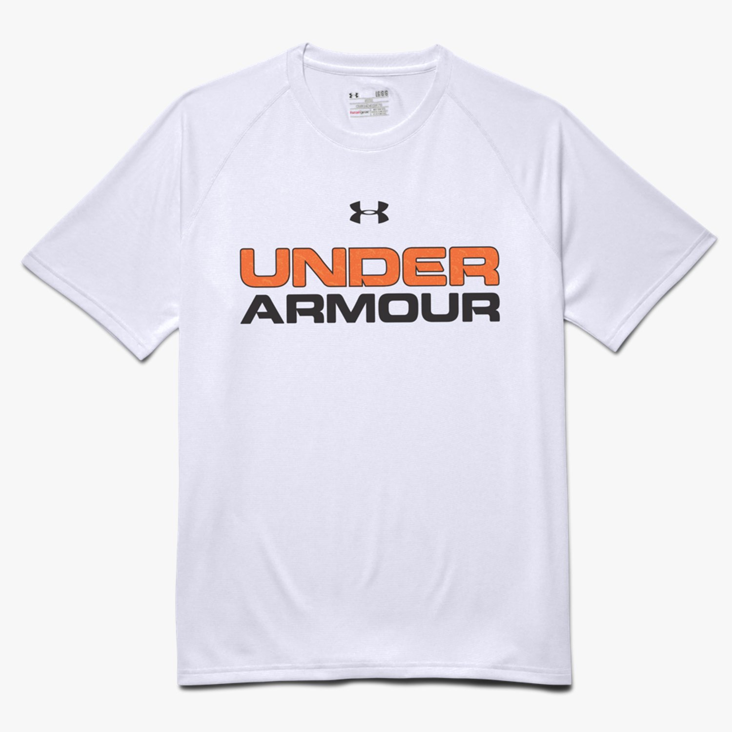 Under Armour UA Core Wordmark Fill 2 T-Shirt White/Bolt Orange/Black-30