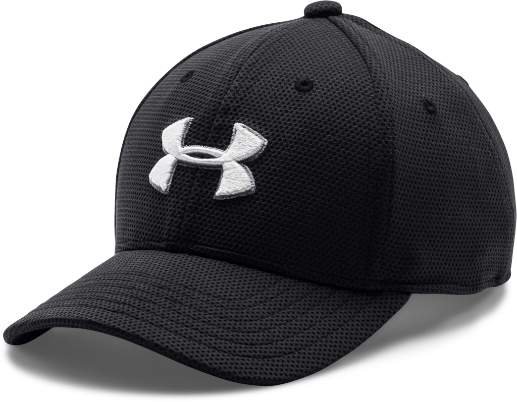 Under Armour Boys' UA Blitzing II Stretch Fit Cap Black/White-30