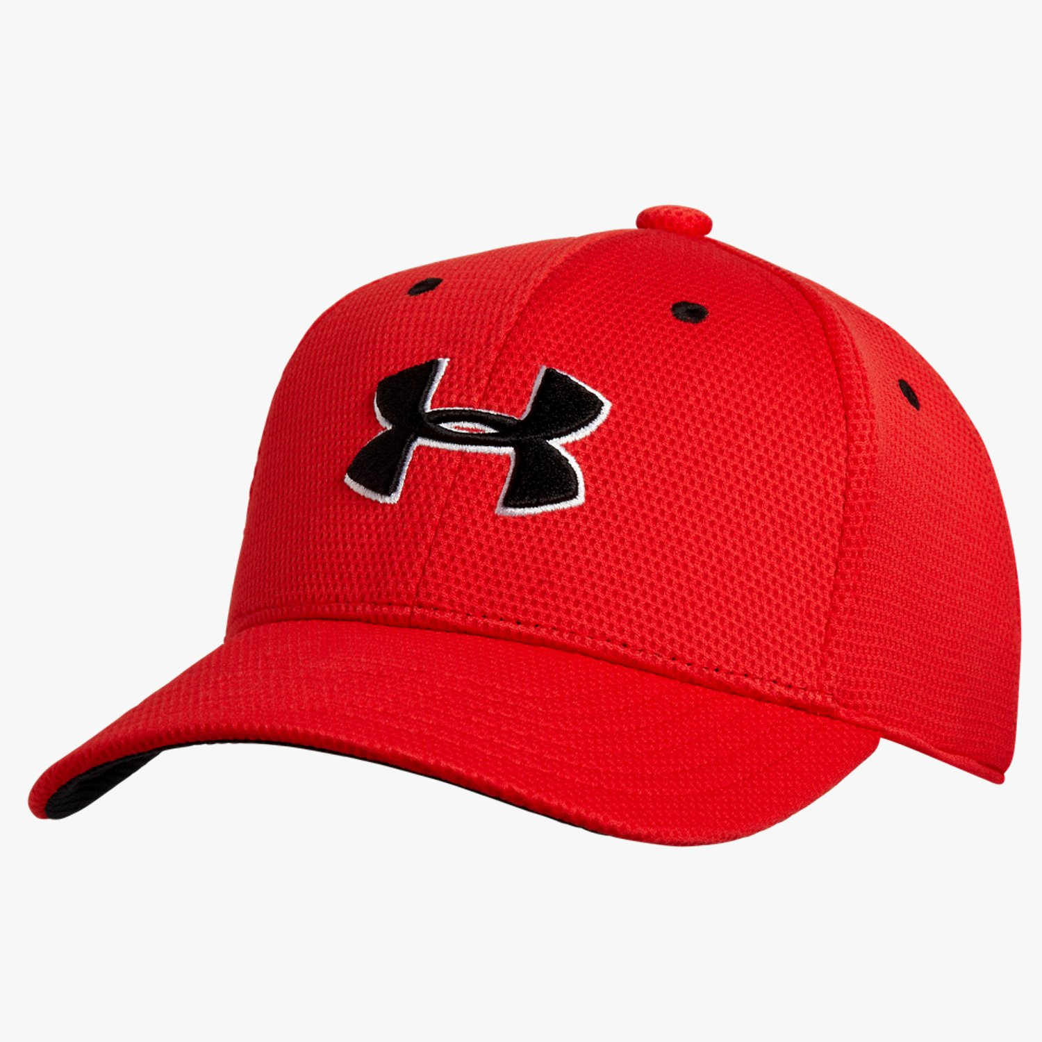 Under Armour Jungen Stretchkappe UA Blitzing II Risk Red/Black-30