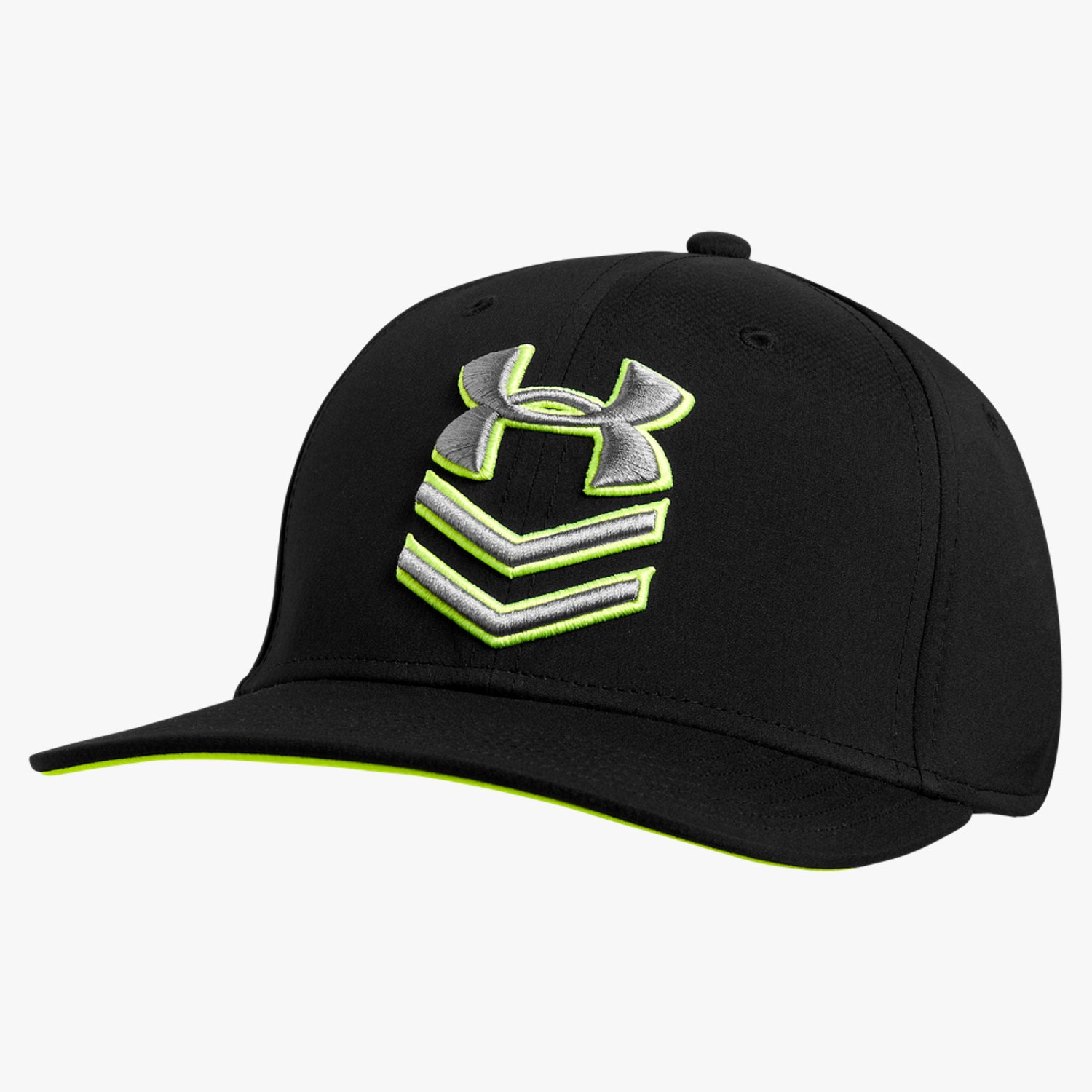 Under Armour UA Undeniable Stretch Fit Cap Black/High-Vis Yellow/Graphite-30