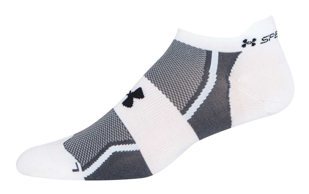 Under Armour UA Speedform No-Show Socks 3 for $30 White/Black-30