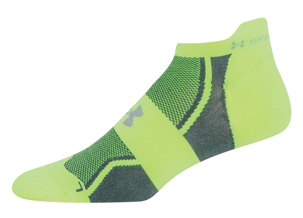 Under Armour UA Speedform No-Show Socks 3 for $30 High-Vis Yellow/White-30