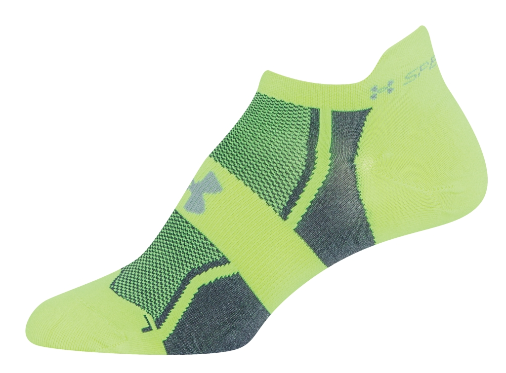 Under Armour UA Speedform No-Show Socks 3 for $30 High-Vis Yellow/PUR-30
