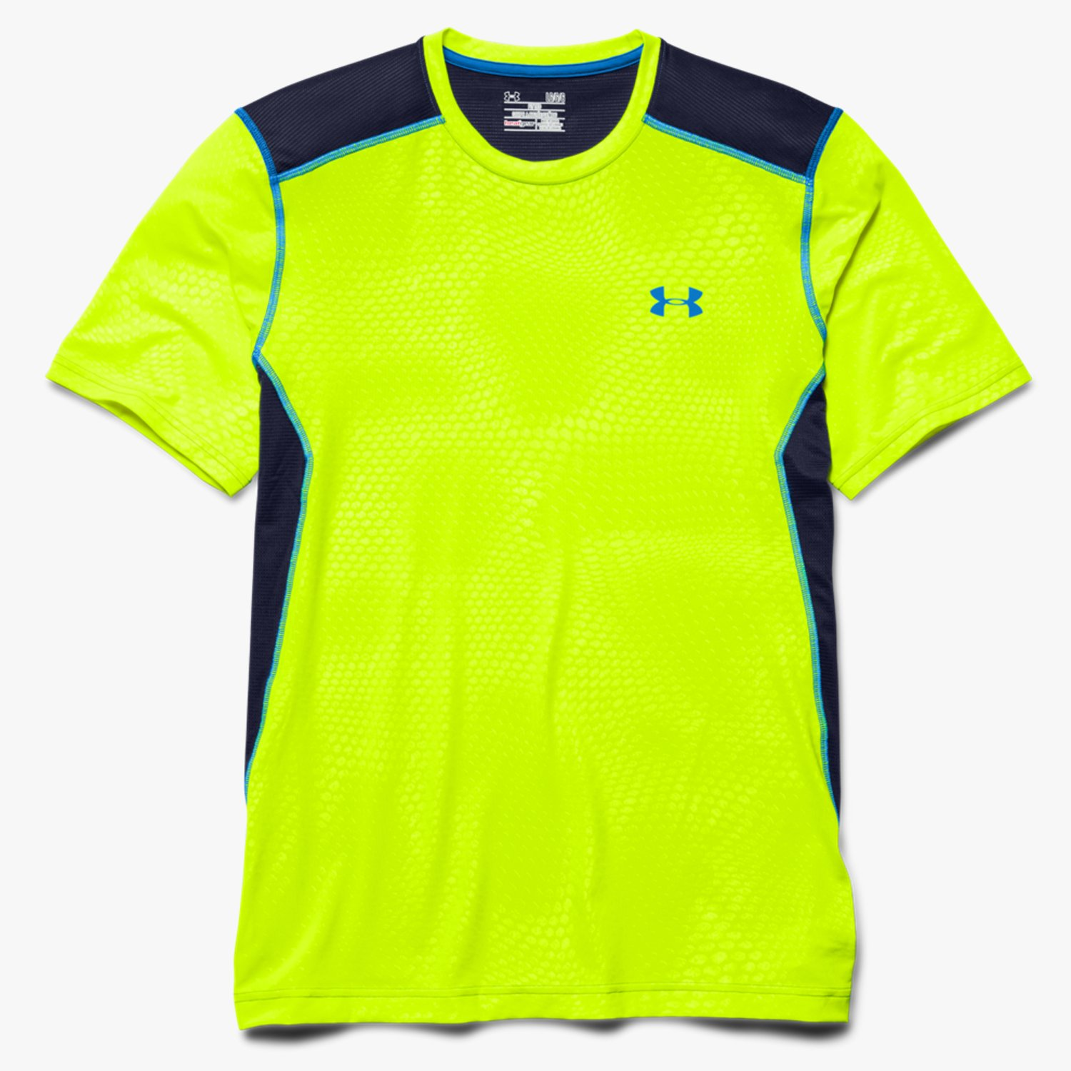 Under Armour T-Shirt UA Raid High-Vis Yellow/Midnight Navy/Blue Jet-30