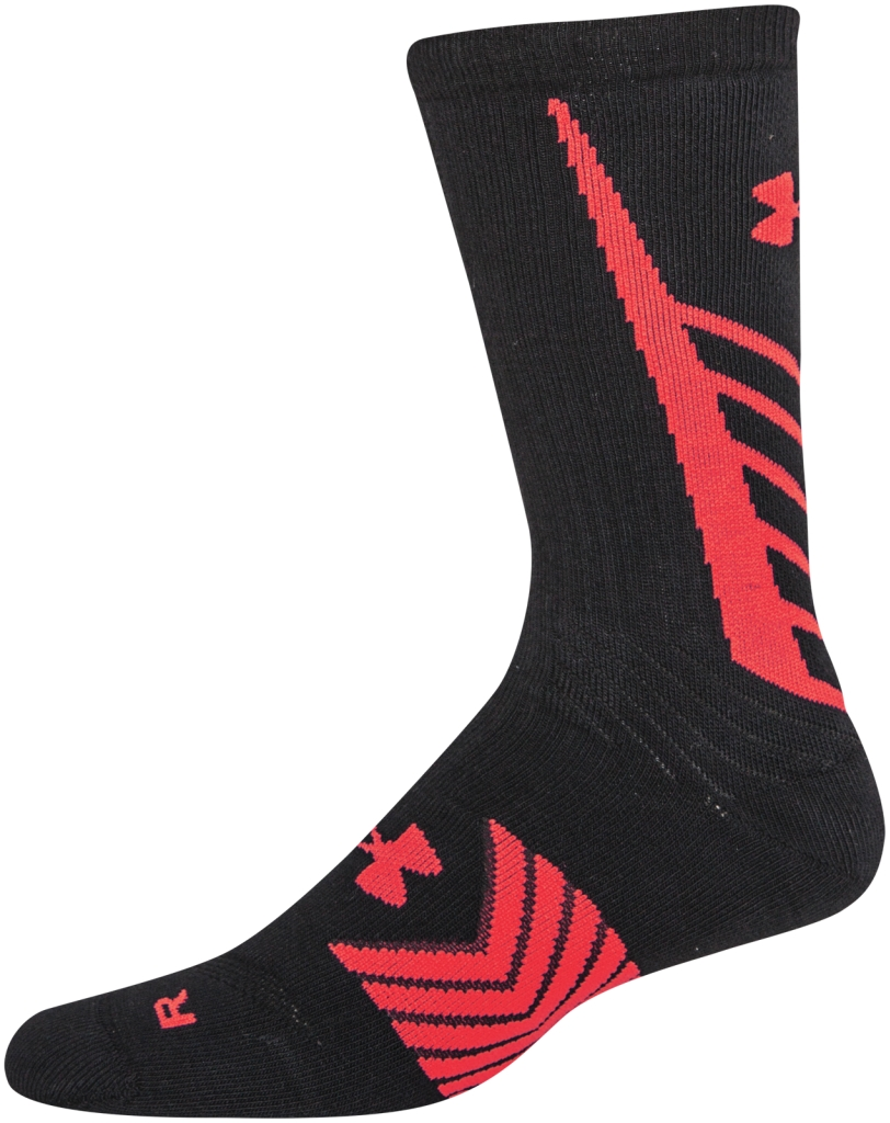 Under Armour UA Undeniable Crew Socks Black/Red-30
