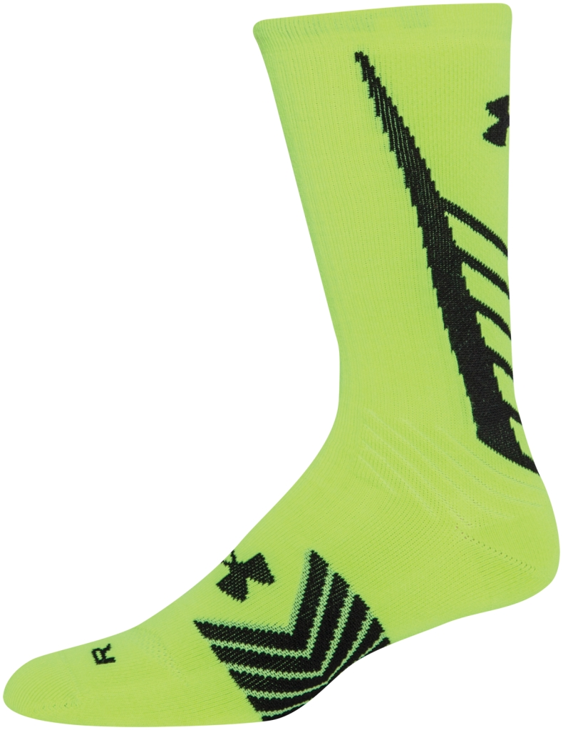 Under Armour UA Undeniable Crew Socks High-Vis Yellow/Black-30