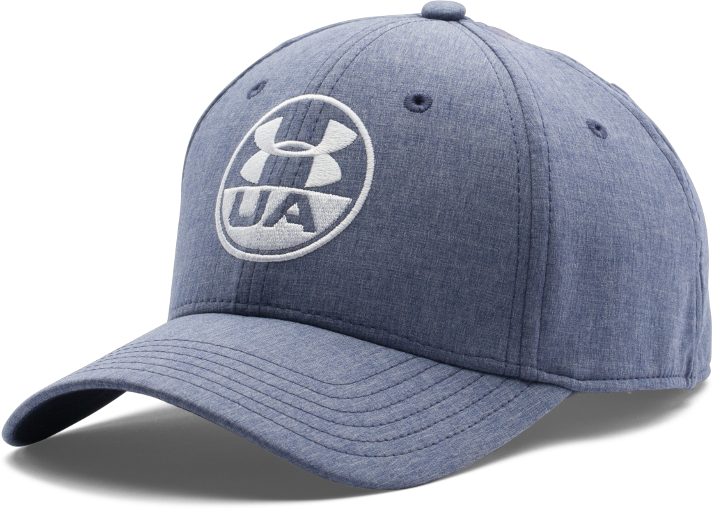 Under Armour UA Chambray Stretch Fit Cap Midnight Navy/Midnight Navy/White-30