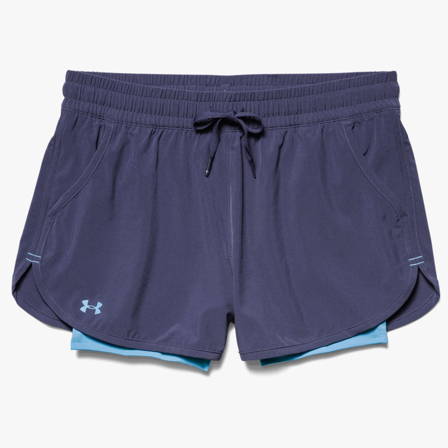 Under Armour UA 2X Rally Shorts Faded Ink/Island Blue/Island Blue-30