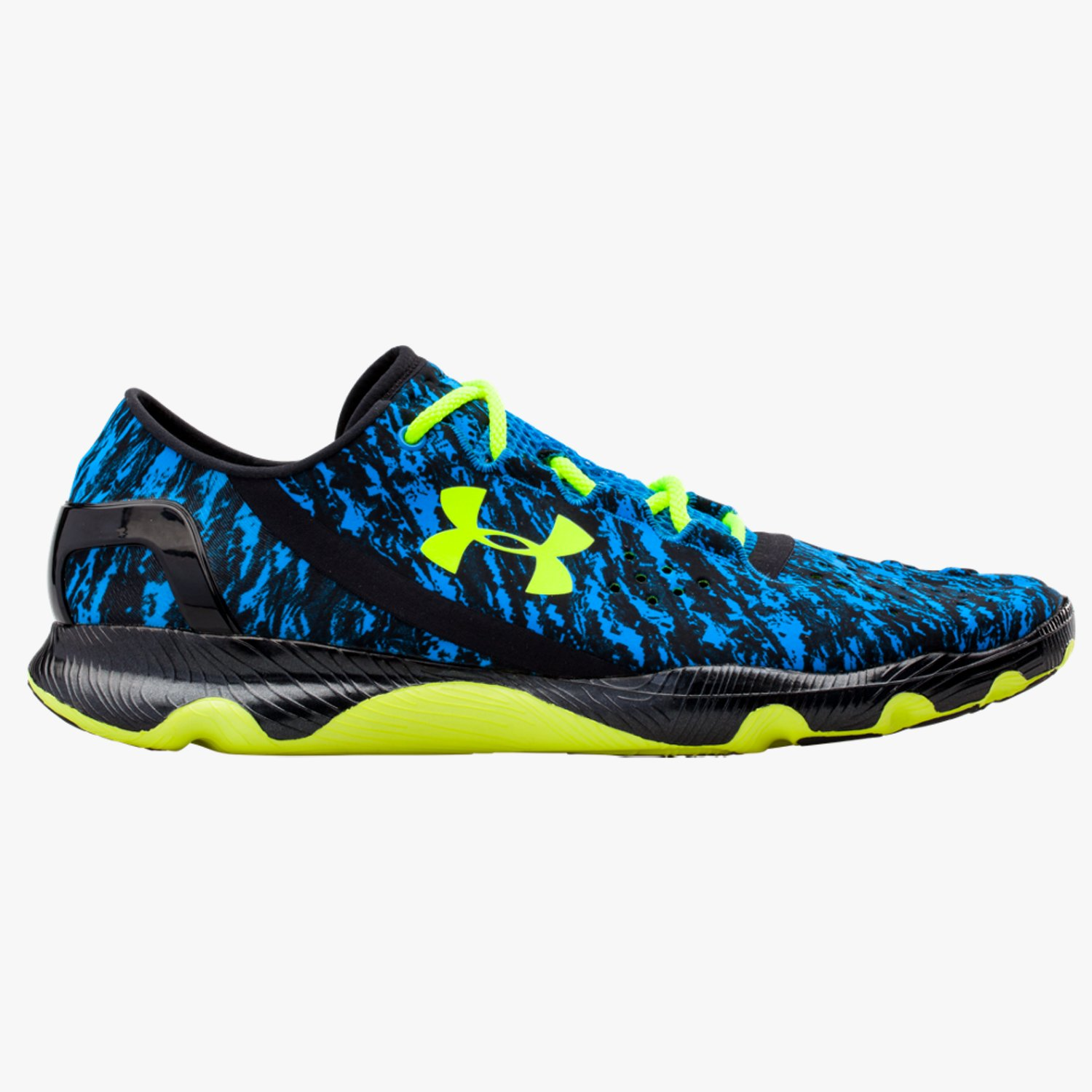 Under Armour UA SpeedForm Apollo Graphic Running Shoes Blue Jet/Black/High-Vis Yellow-30