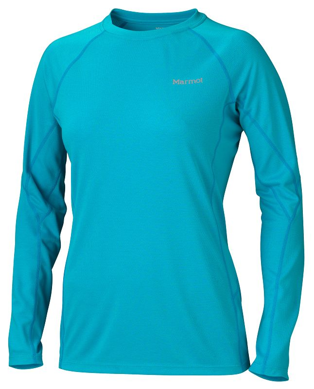 Marmot Wm's ThermalClime Sport LS Crew Sea Breeze-30