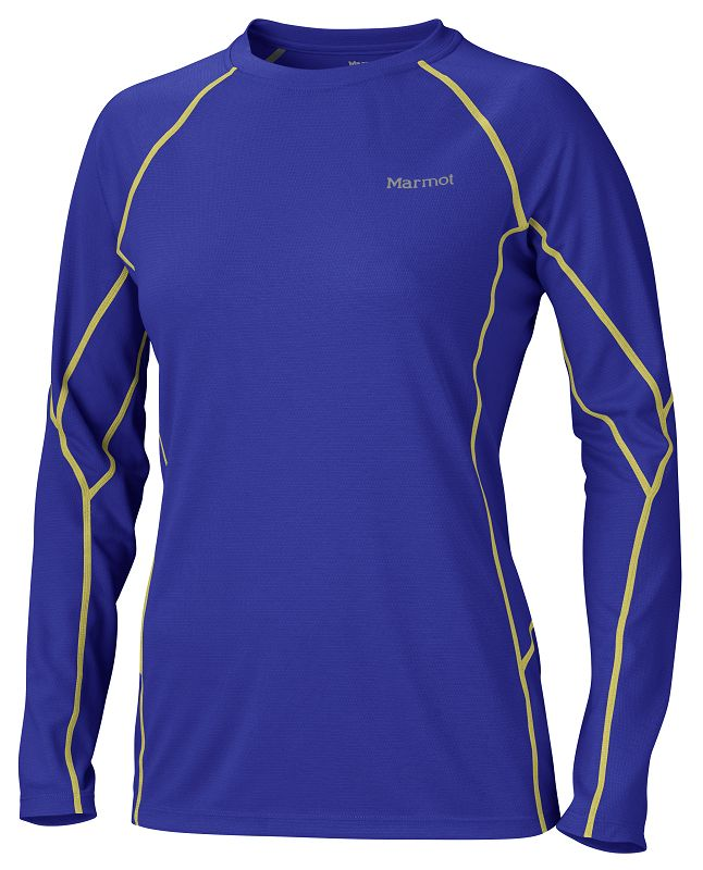 Marmot Wm's ThermalClime Sport LS Crew Electric Blue-30